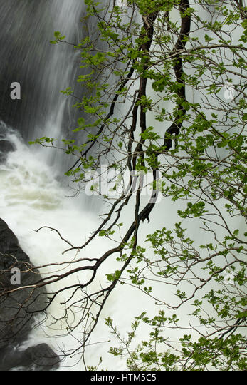 Sgwd Clun-Gywn waterfall, Brecon Beacons National Park, Wales, UK - Stock-Bilder