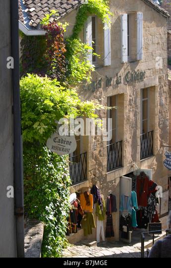 gift and souvenir shop saint emilion bordeaux france - Stock Image