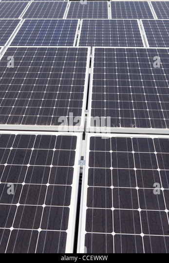 Photovoltaic solar panels - Stock Image