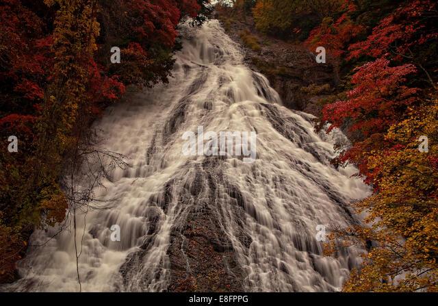 Japan, Yudaki Waterfall - Stock Image
