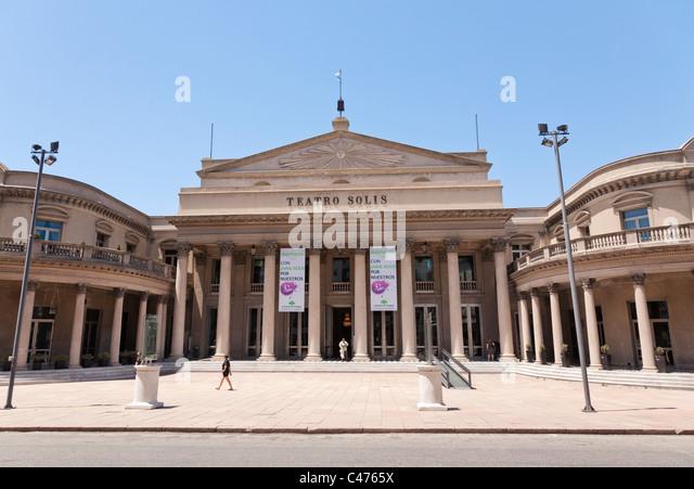 Teatro Solis, Montevideo, Uruguay - Stock Image