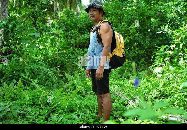 Hiking in the Rainforest, Leyte, Philippines - Stock-Bilder