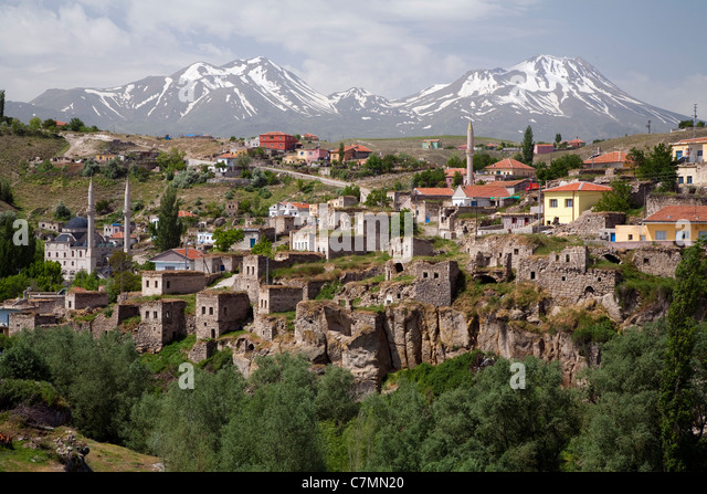Scenic view of Ihlara town Nevsehir Turkey - Stock Image