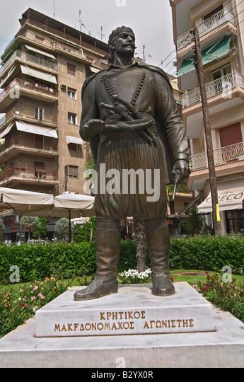 Statue of Kritikos of Macedonia. Thessaloniki, Macedonia, Greece - Stock Image