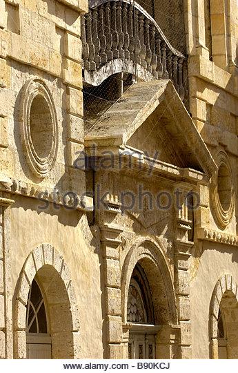 Door of Moulin des Tours or Henri IV mill in Barbaste, Albret Pays, Lot et Garonne, France - Stock Image