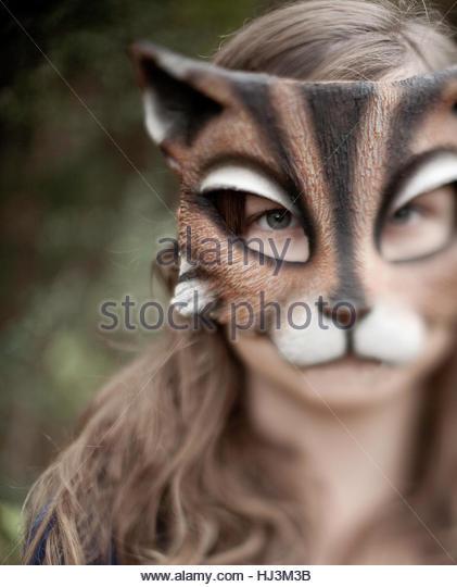 Cat Girl - Stock-Bilder