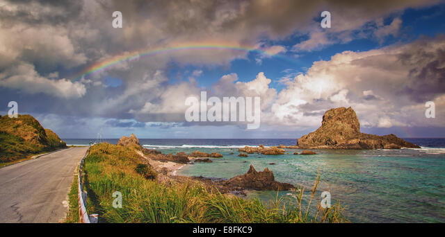 Panoramic seascape - Stock Image