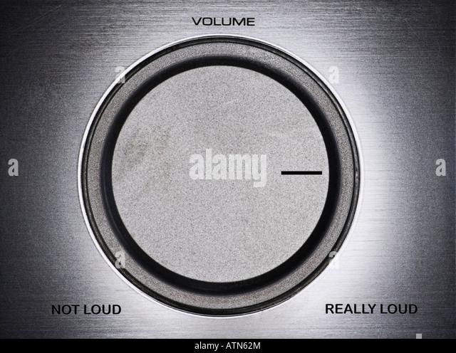 humorous stereo receiver dial - Stock-Bilder