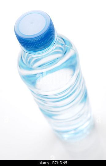 Bottle of Water High Angle - Stock Image