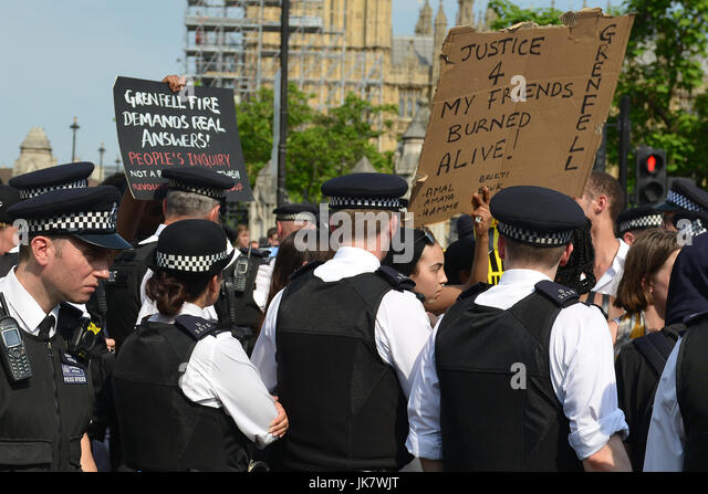 A protest hosted by 'Movement For Justice By Any Means Necessary', marched from Shepherds Bush Green to Parliament - Stock Image