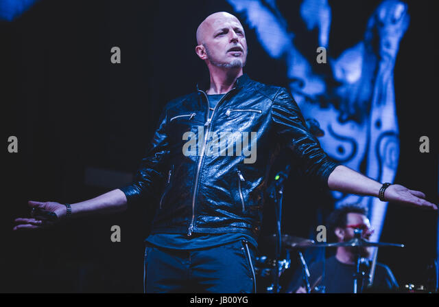 April 17, 2015: The Italian rock band Negrita performing live on stage at the Pala Alpitour for their '9' - Stock Image