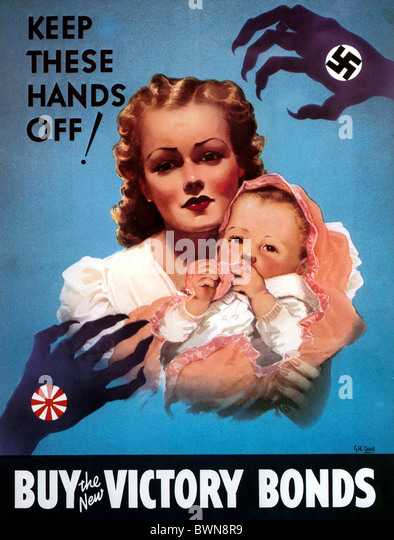 Canada North America America poster 1942 WW2 history historical historic Second World War Nazi German Wehrm - Stock Image