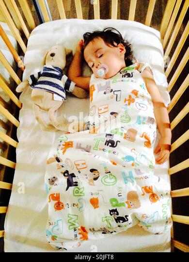 Sleeping Toddler - Stock Image