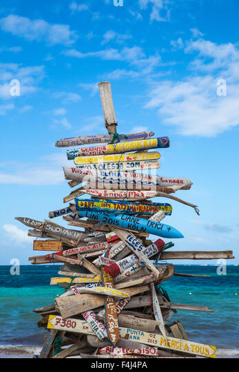 Playa Cabeza de Toro, Punta Cana, Dominican Republic, West Indies, Caribbean, Central America - Stock Image