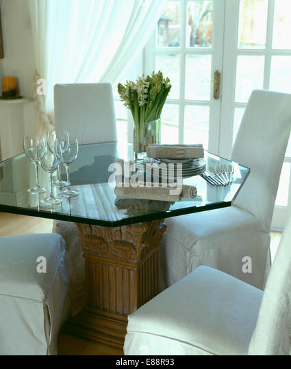 Traditional furniture tables monochromatic stock photos for Black n white dining rooms