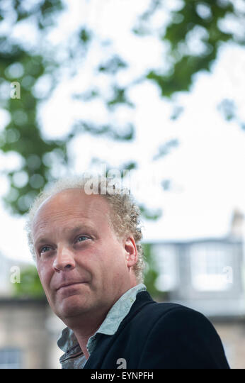 Poet and novelist, Patrick McGuinness, appearing at the Edinburgh International Book Festival. - Stock Image