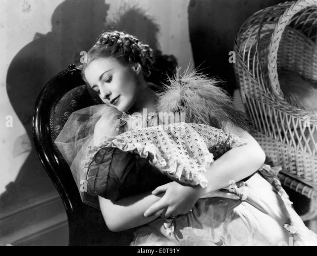 Barbara Stanwyck, on-set of the Film, 'Stella Dallas', 1937 - Stock Image