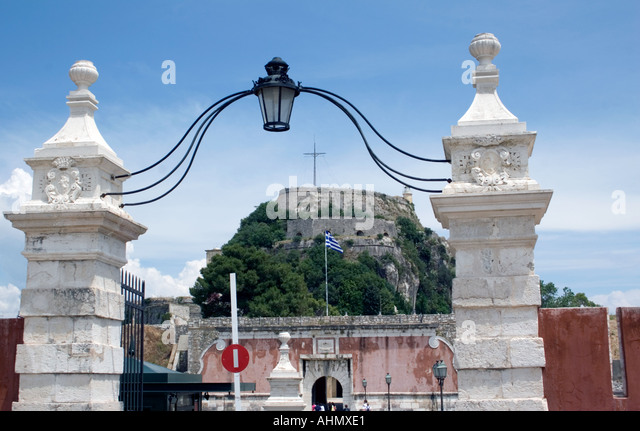 Entrance to the Old Fortress, Kerkyra, Corfu, Europe, - Stock Image