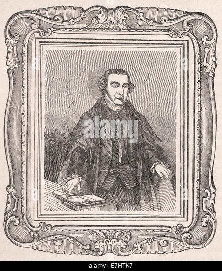Portait of Patrick Henry - Engraving - XIX th Century - Stock Image
