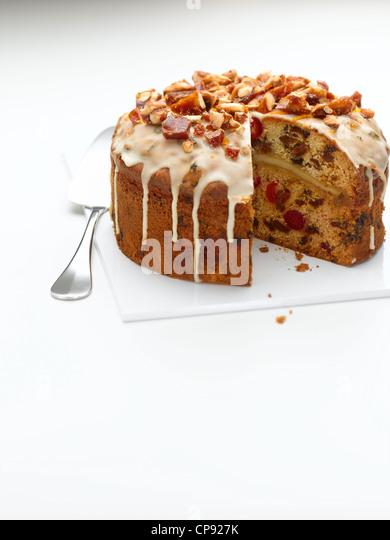 Easter Simnel Cake - Stock Image