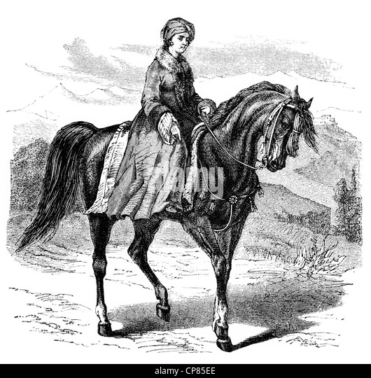 Hester Lucy Stanhope, 1776 - 1839, English adventurer, she ruled an empire in the local Druze mountains of Lebanon, - Stock Image