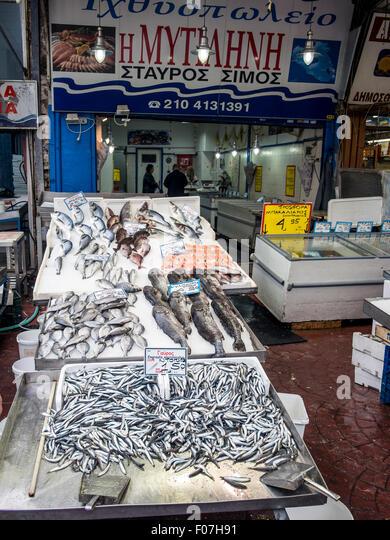 Greek fish market stock photos greek fish market stock for Nearest fresh fish market