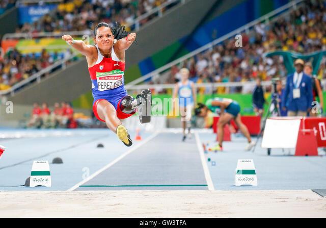 Rio De Janeiro, Brazil. 10th Sep, 2016. Paralympic Games Rio 2016 - Women's long Jump - T42 Malu Perez Iser - Stock-Bilder