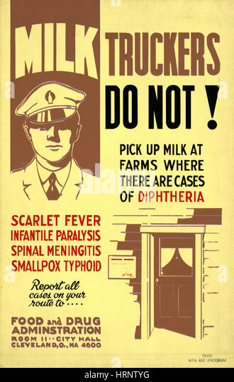 Regulation of the Milk Supply, FAP Poster, 1940 - Stock Image