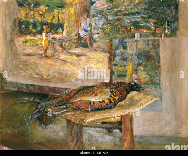 Interior with Paintings and a Pheasant - by Édouard Vuillard, 1928 - Stock-Bilder