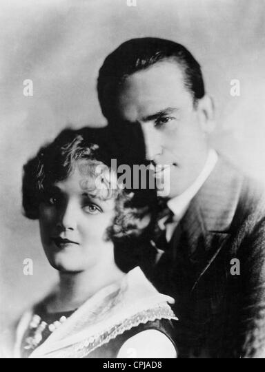 Harold Lloyd with Mildred Davis - Stock Image