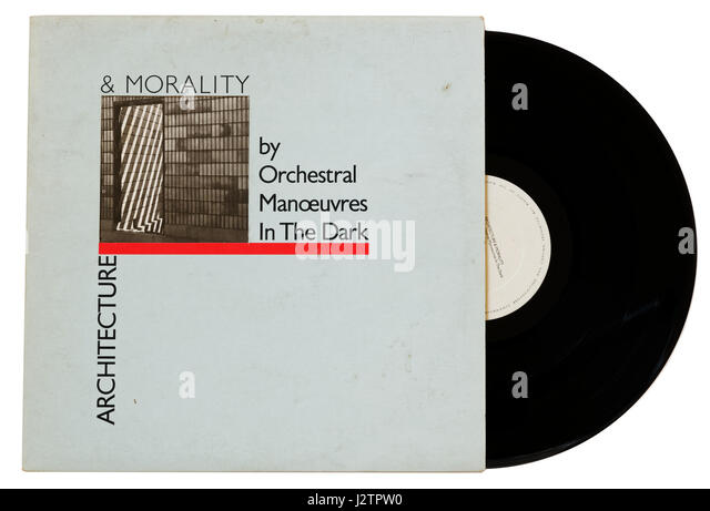 Orchestral Manoeuvres in the Dark album Architecture & Morality on vinyl - Stock Image