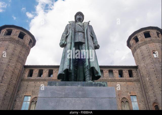 War memorial to Emanuele Filiberto, duca d'Aosta, Turin, Piedmont, Italy - Stock Image