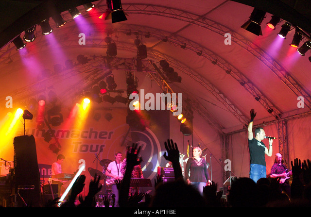 concert Antenne Bayern Band in Geretsried in Bavaria - Stock Image