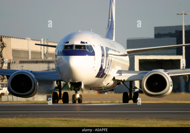 LOT Polish Airlines Polskie Linie Lotnicze Boeing 737 - Stock Image