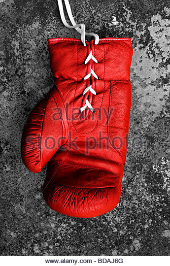 Red Boxing Gloves - Stock Image