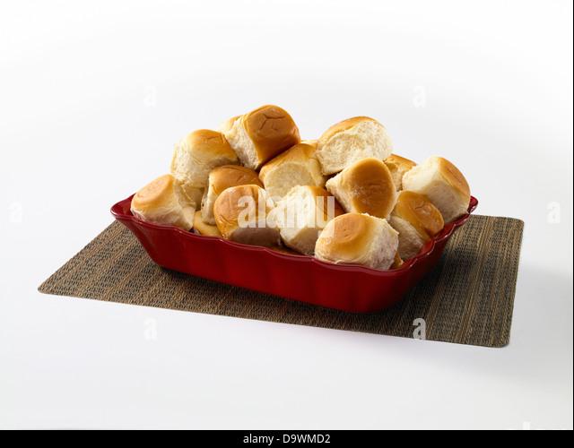 classic bread rolls - Stock Image