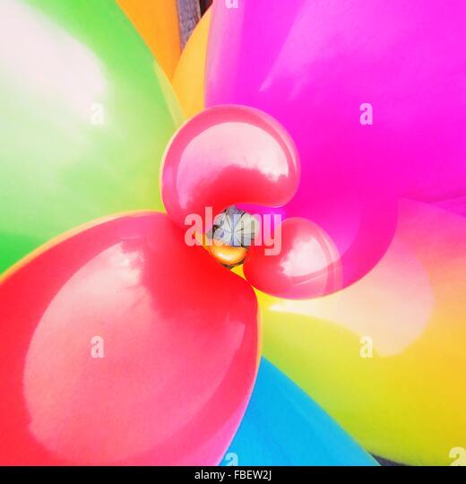 Full Frame Shot Of Multi Colored Balloons - Stock-Bilder