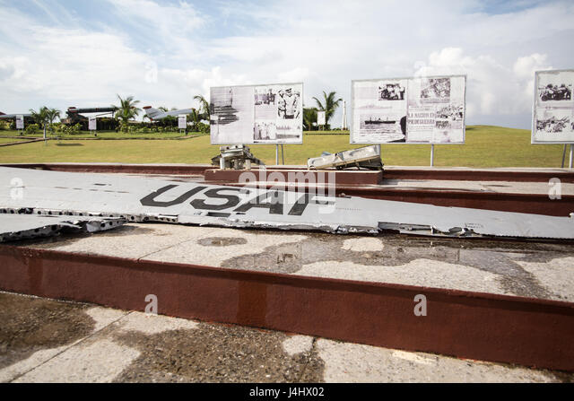 Wing and wreckage from American fighter jet in Havana Cuba - Stock Image