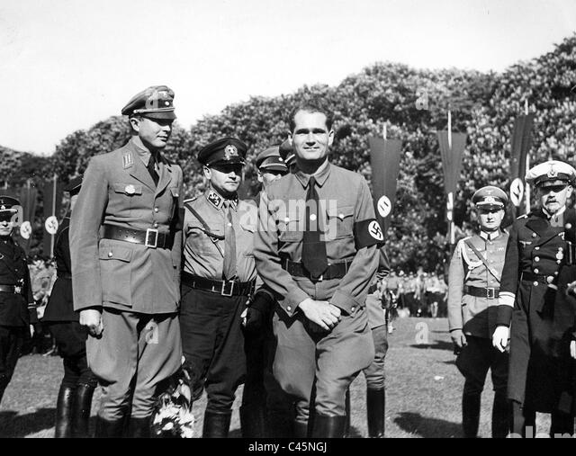 Rudolf Hess on the 'Day of seafaring' in Hamburg, 1935 - Stock Image