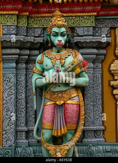 Facade Detail Sri Krishna Temple Singapore - Stock Image