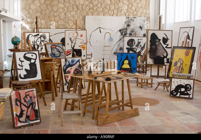 Mallorca Miro Foundation museum atelier - Stock Image