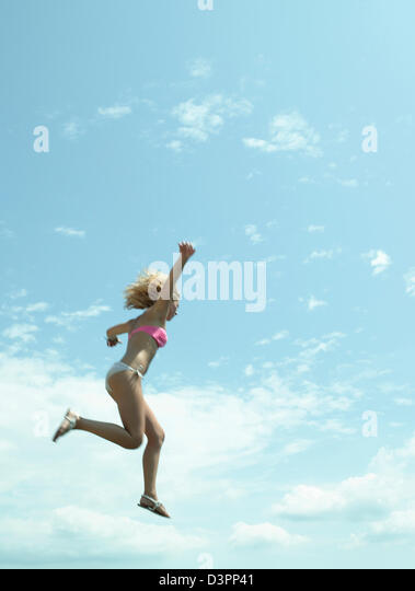Outdoor swimming - Stock Image