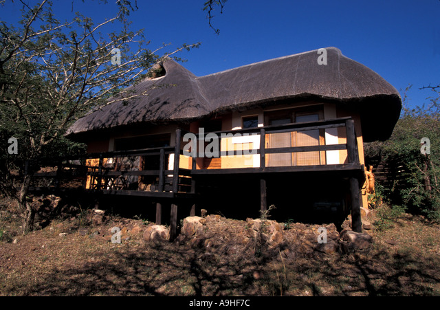 South Africa Phinda Game Reserve lodge - Stock Image
