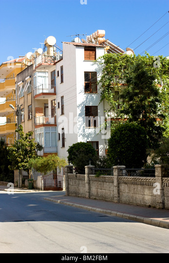 Residential buildings in Alanya, Turkey. - Stock Image