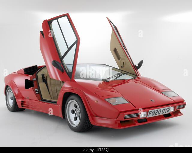 1988 Lamborghini Countach. Artist: Unknown. - Stock Image