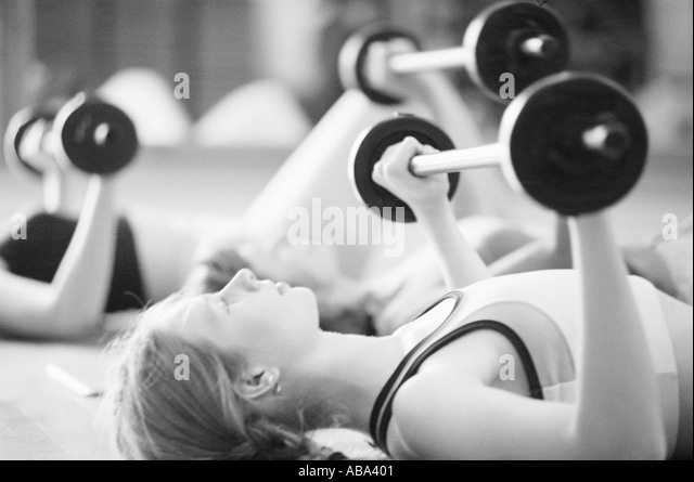 Women weightlifting - Stock Image
