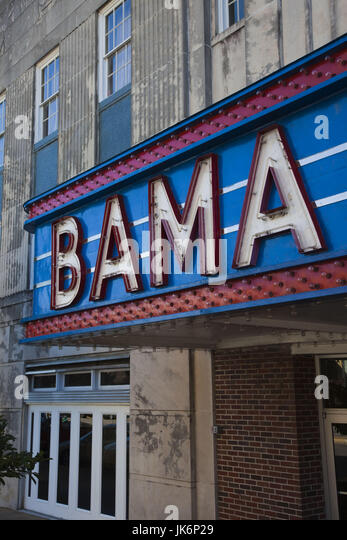 USA, Alabama, Tuscaloosa, Marquee of the Bama theater - Stock Image