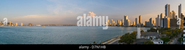 La Bahia (The Bay), Cartagena, Colombia - Stock Image