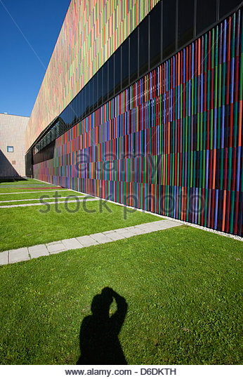 Modern architecture shadow photographer abstract - Stock Image