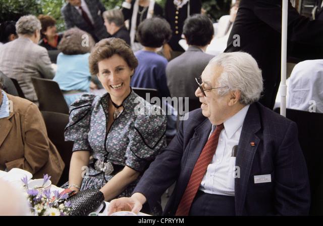 Brown, Herbert Charles, 22.5.1912 - 19.12.2004, American chemist, with Countess Sonja Bernadotte, Nobel Prize laureates - Stock Image